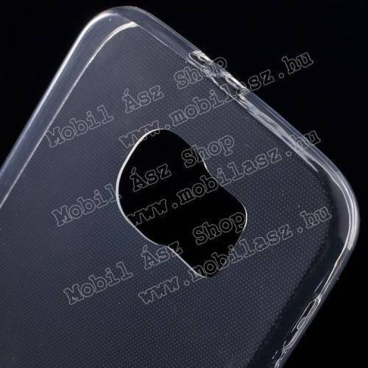 Szilikon védő tok / hátlap - ultravékony! 0,6mm - ÁTLÁTSZÓ - SAMSUNG SM-G920 Galaxy S6 méret