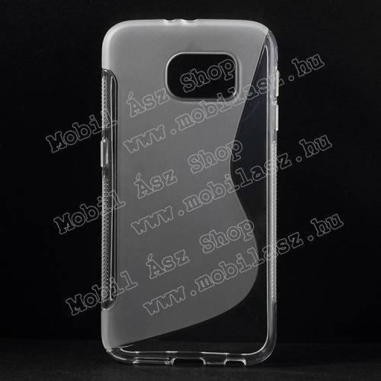 SAMSUNG Galaxy S6 (SM-G920)Szilikon védő tok  hátlap - FÉNYESMATT - ÁTLÁTSZÓ - SAMSUNG SM-G920 Galaxy S6