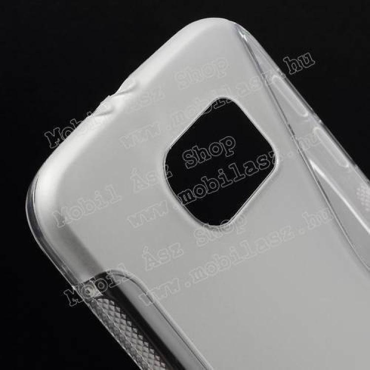 Szilikon védő tok / hátlap - FÉNYES/MATT - ÁTLÁTSZÓ - SAMSUNG SM-G920 Galaxy S6
