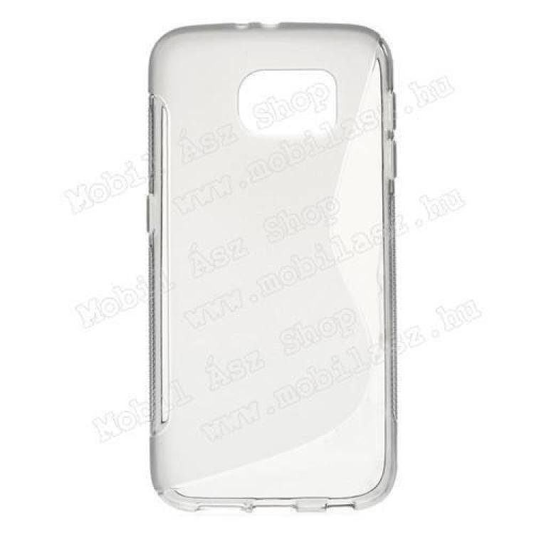 SAMSUNG Galaxy S6 (SM-G920)Szilikon védő tok  hátlap - FÉNYESMATT - SZÜRKE - SAMSUNG SM-G920 Galaxy S6