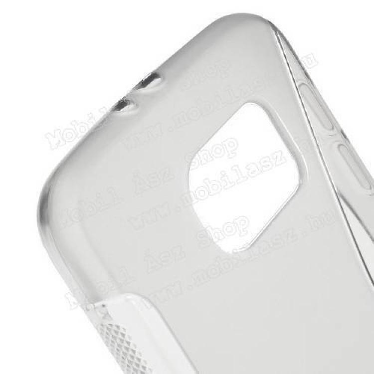 Szilikon védő tok / hátlap - FÉNYES/MATT - SZÜRKE - SAMSUNG SM-G920 Galaxy S6