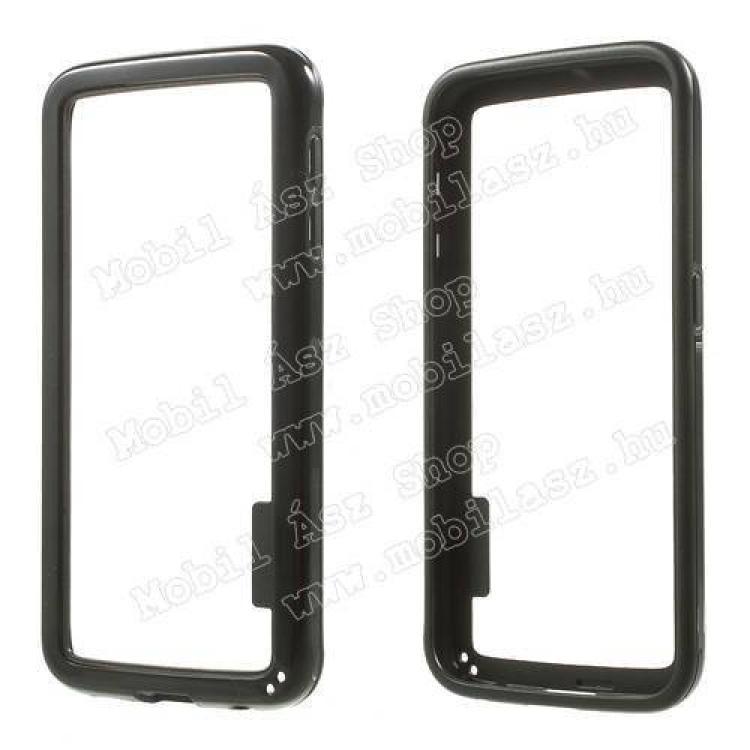 SAMSUNG Galaxy S6 (SM-G920)Szilikon védő keret - BUMPER - FEKETE - SAMSUNG SM-G920 Galaxy S6