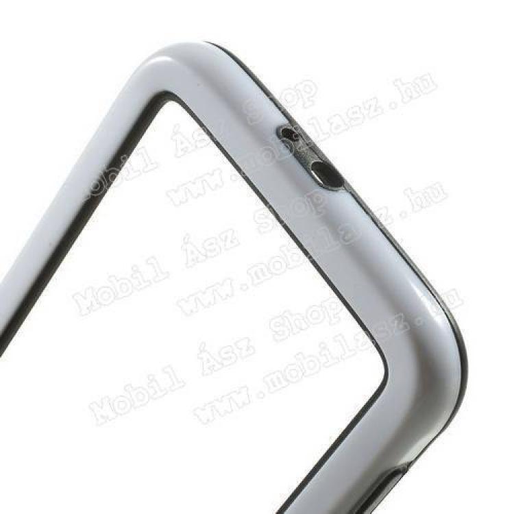 Szilikon védő keret - BUMPER - FEHÉR / FEKETE - SAMSUNG SM-G920 Galaxy S6
