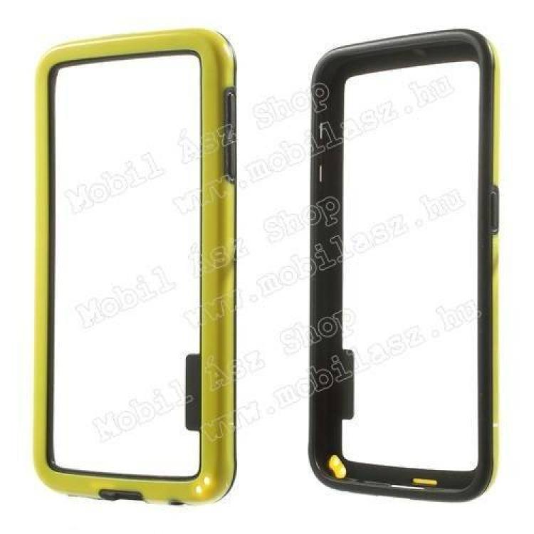 SAMSUNG Galaxy S6 (SM-G920)Szilikon védő keret - BUMPER - SÁRGA  FEKETE - SAMSUNG SM-G920 Galaxy S6