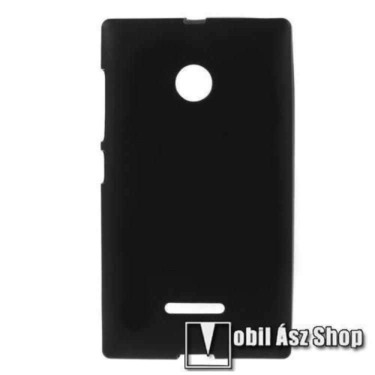 MICROSOFT Lumia 435 Dual SIMSzilikon védő tok  hátlap - FLEXI - FEKETE - MICROSOFT Lumia 435  Lumia 435 Dual SIM  Lumia 532  Lumia 532 Dual SIM