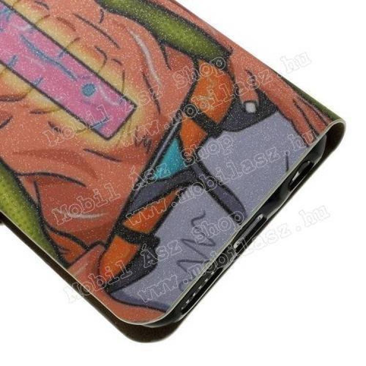 Notesz tok / flip tok - SZEXI LÁNY 2 - asztali tartó funkciós, oldalra nyíló, rejtett mágneses záródás, bankkártyatartó zseb - APPLE iPhone 6