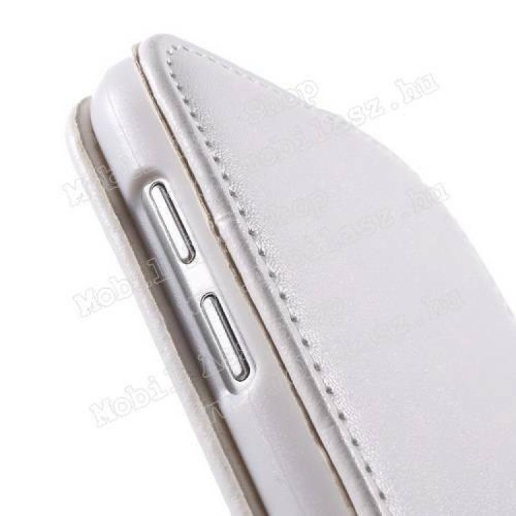 FLIP tok - FEHÉR - lefelé nyíló, rejtett mágneses záródás - SAMSUNG SM-G920 Galaxy S6