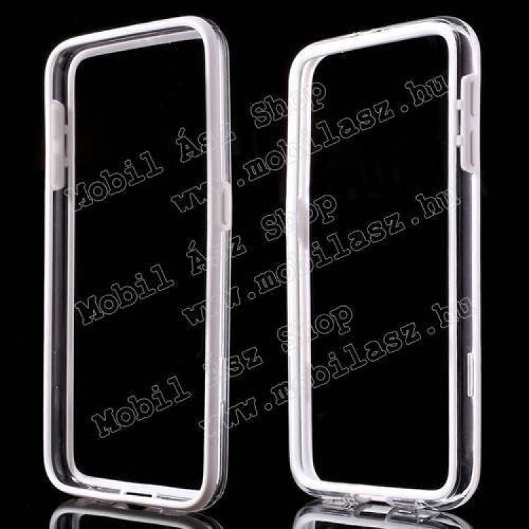 SAMSUNG Galaxy S6 (SM-G920)Szilikon védő keret - BUMPER - FEHÉR  ÁTLÁTSZÓ - SAMSUNG SM-G920 Galaxy S6