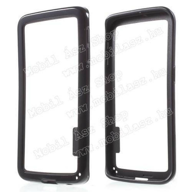 SAMSUNG Galaxy S6 Edge (SM-G925F)Szilikon védő keret - BUMPER - FEKETE - SAMSUNG SM-G925F Galaxy S6 Edge