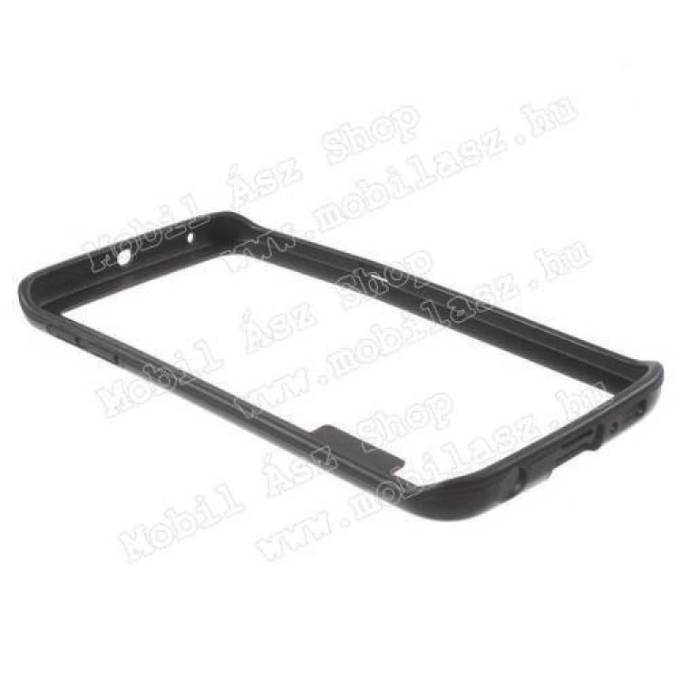 Szilikon védő keret - BUMPER - FEKETE - SAMSUNG SM-G925F Galaxy S6 Edge