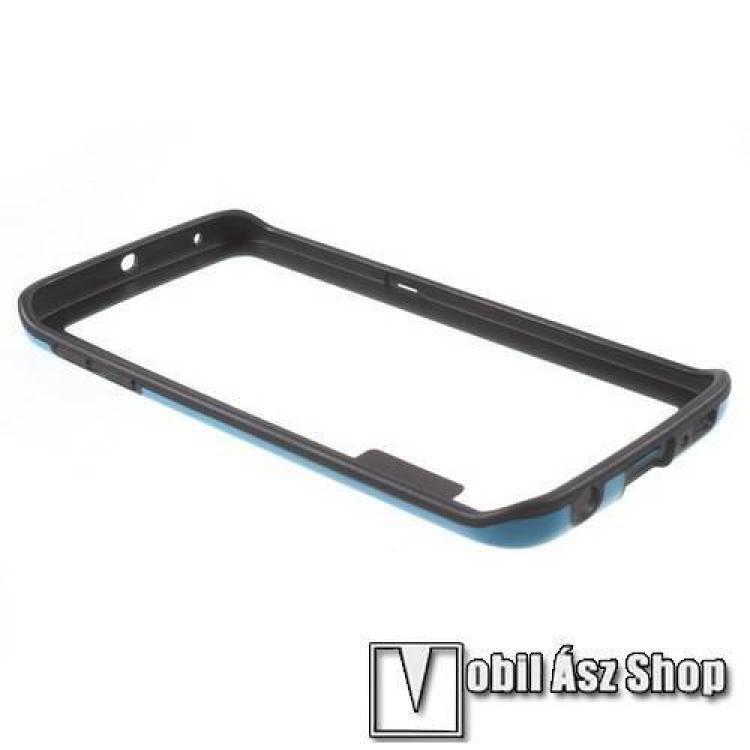 Szilikon védő keret - BUMPER - KÉK / FEKETE - SAMSUNG SM-G925F Galaxy S6 Edge