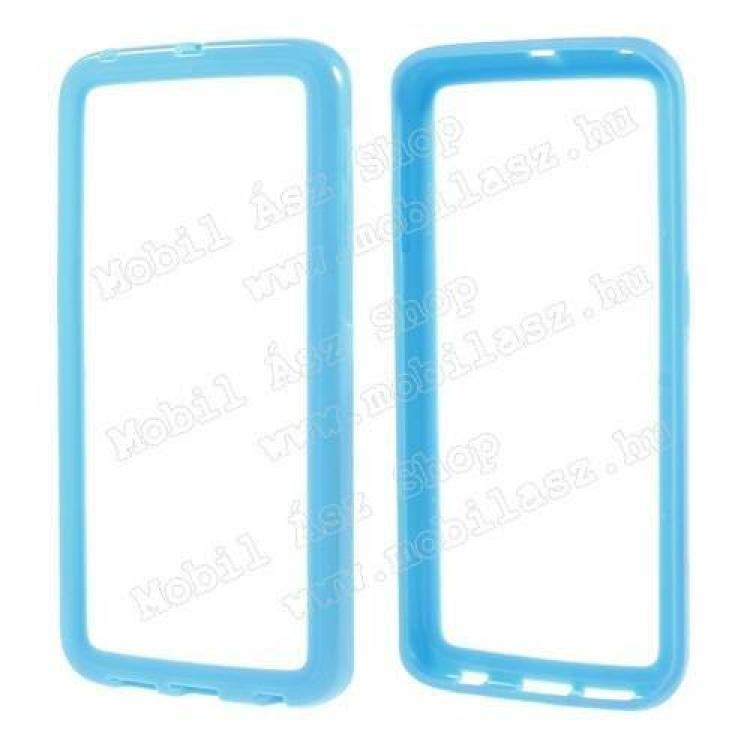 SAMSUNG Galaxy S6 Edge (SM-G925F)Szilikon védő keret - BUMPER - VILÁGOSKÉK - SAMSUNG SM-G925F Galaxy S6 Edge