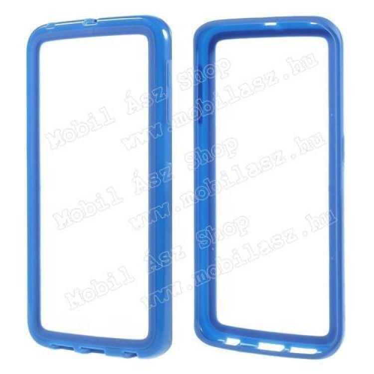 SAMSUNG Galaxy S6 Edge (SM-G925F)Szilikon védő keret - BUMPER - SÖTÉTKÉK - SAMSUNG SM-G925F Galaxy S6 Edge