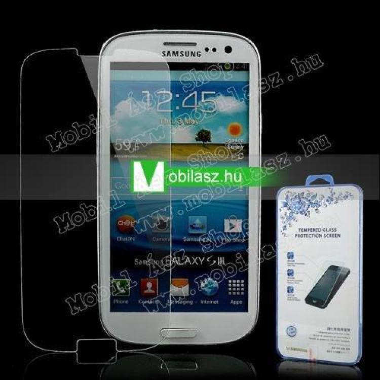 SAMSUNG Galaxy S III. (GT-I9300)Előlap védő karcálló üveg - SAMSUNG GT-I9300 Galaxy S III.
