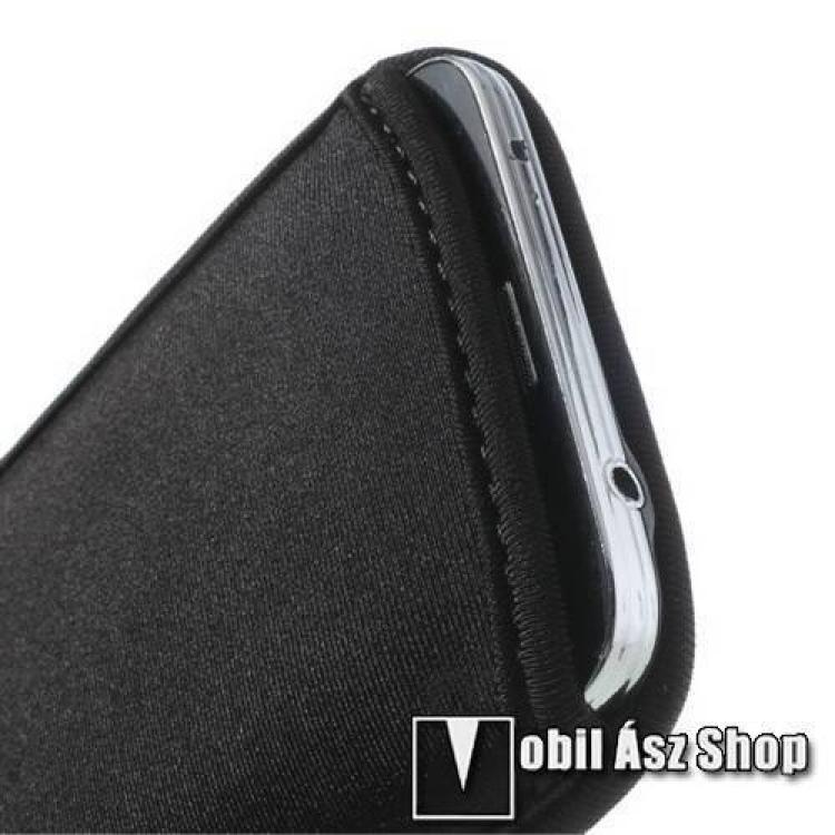 Tok álló - POUCH - belebújtatós - 142 x 80 mm - FEKETE - SAMSUNG SM-G900F Galaxy S5
