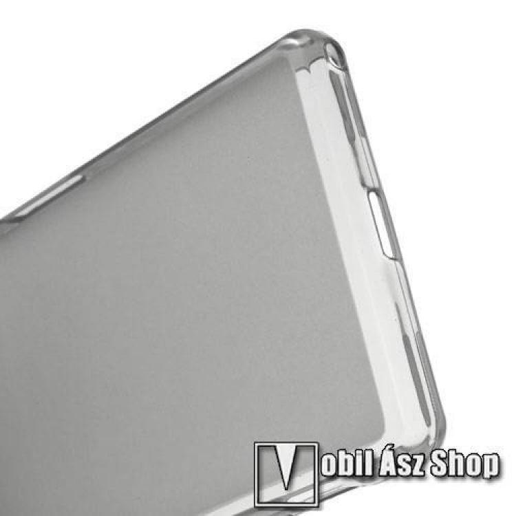 Szilikon védő tok / hátlap - SZÜRKE - matt hátlap, fényes szegély - SONY Xperia Z2 (D6503)