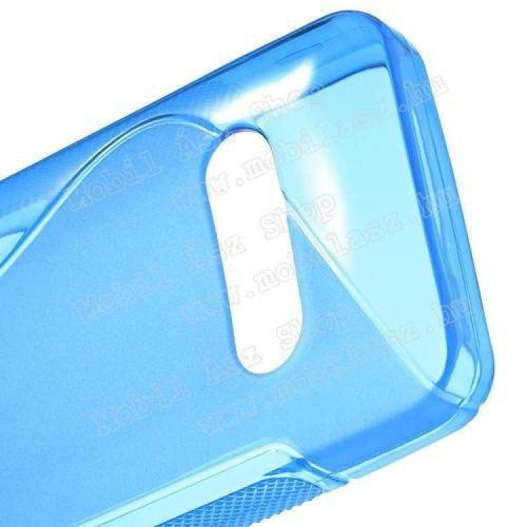 EXKLUZÍV telefonvédő gumi / szilikon tok (FÉNYES/MATT) - KÉK - NOKIA 301