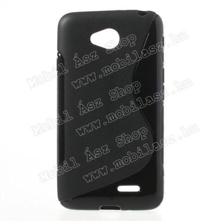 LG D280 L65EXKLUZÍV telefonvédő gumi  szilikon tok (FÉNYESMATT) - FEKETE - LG L70