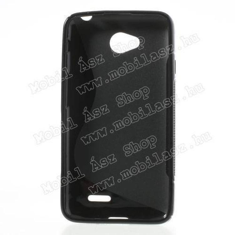 EXKLUZÍV telefonvédő gumi / szilikon tok (FÉNYES/MATT) - FEKETE - LG L70
