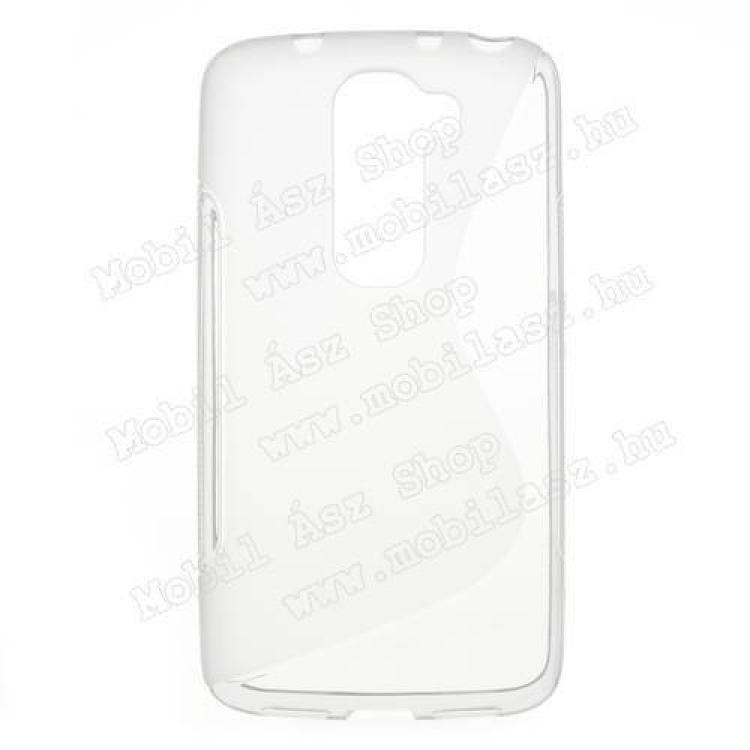 LG D620 G2 mini LTESzilikon védő tok  hátlap - FÉNYESMATT - ÁTLÁTSZÓ - LG G2 mini