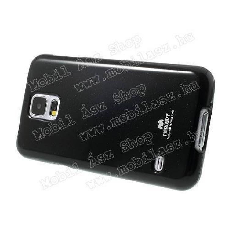Szilikon védő tok / hátlap - MERCURY - FEKETE - SAMSUNG SM-G900F Galaxy S5