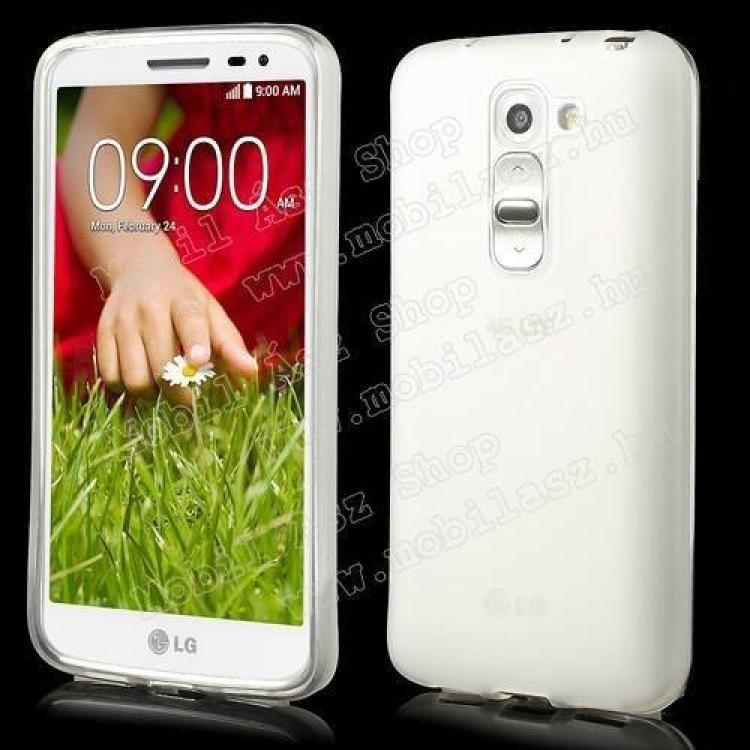 LG D620 G2 mini LTESzilikon védő tok  hátlap - FLEXI - FEHÉR - LG G2 mini  LG D620 G2 mini LTE