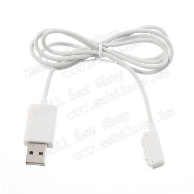 SONY Xperia Z3 Tablet Compact (SGP621)Töltő kábel - USB  DOCK csatlakozó - SONY Xperia Z1 (C6903)  SONY Xperia Z1 Compact (D5503)  SONY Xperia Z2 (D6503) - FEHÉR