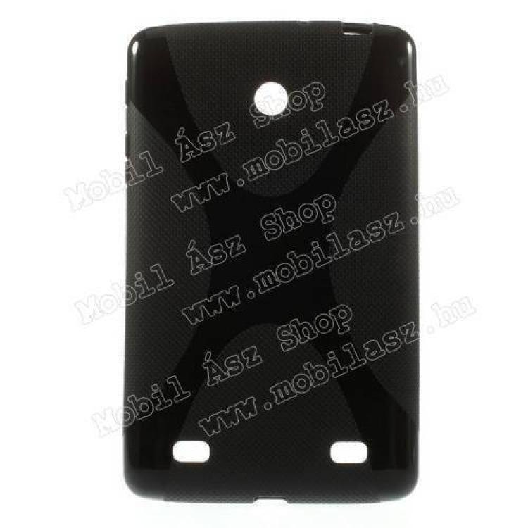 LG V400 G Pad 7.0Szilikon védő tok  hátlap - X-DESIGN - FEKETE - LG V400 G Pad 7.0