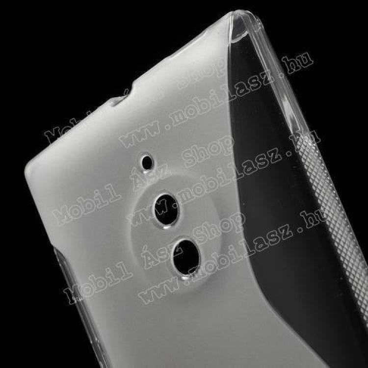 Szilikon védő tok / hátlap - FÉNYES/MATT - ÁTLÁTSZÓ - NOKIA Lumia 830
