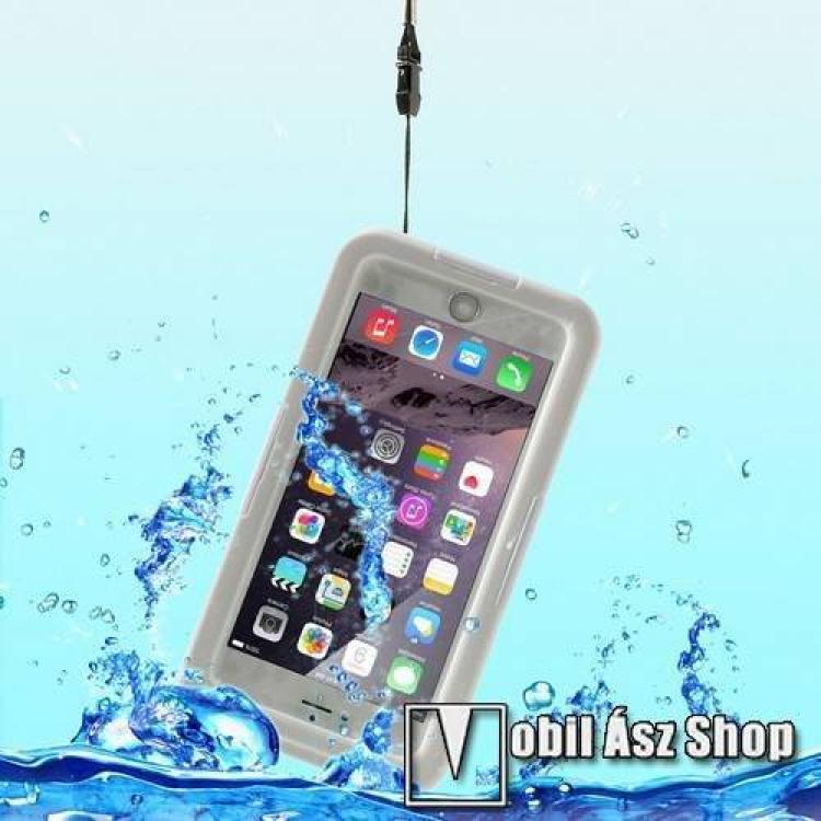 APPLE iPhone 6s PlusVízhatlan  vízálló tok - nyakba akasztható, 6m mélységig vízálló - FEHÉR  ÁTLÁTSZÓ - APPLE iPhone 6 Plus