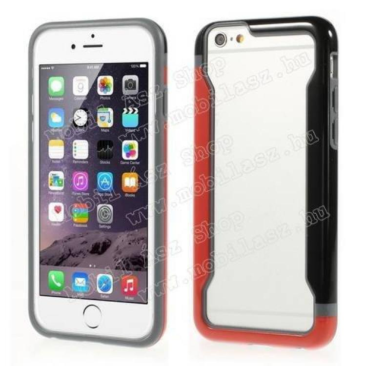 APPLE iPhone 6sDUO szilikon védő keret - BUMPER - PIROS  FEKETE - APPLE iPhone 6