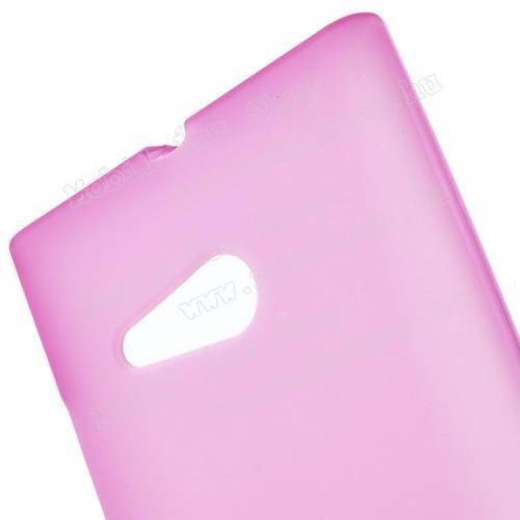 Szilikon védő tok / hátlap - FLEXI - RÓZSASZÍN - NOKIA Lumia 730 / NOKIA Lumia 735