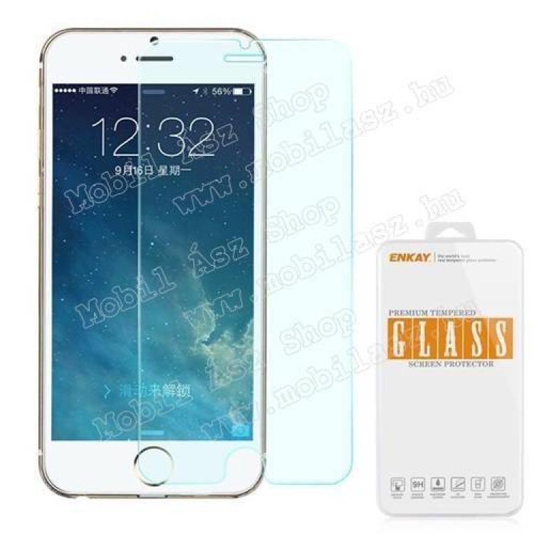 APPLE iPhone 6s PlusElőlap védő karcálló edzett üveg - 0,3 mm vékony, 9H, A képernyő sík részét védi - APPLE iPhone 6 Plus