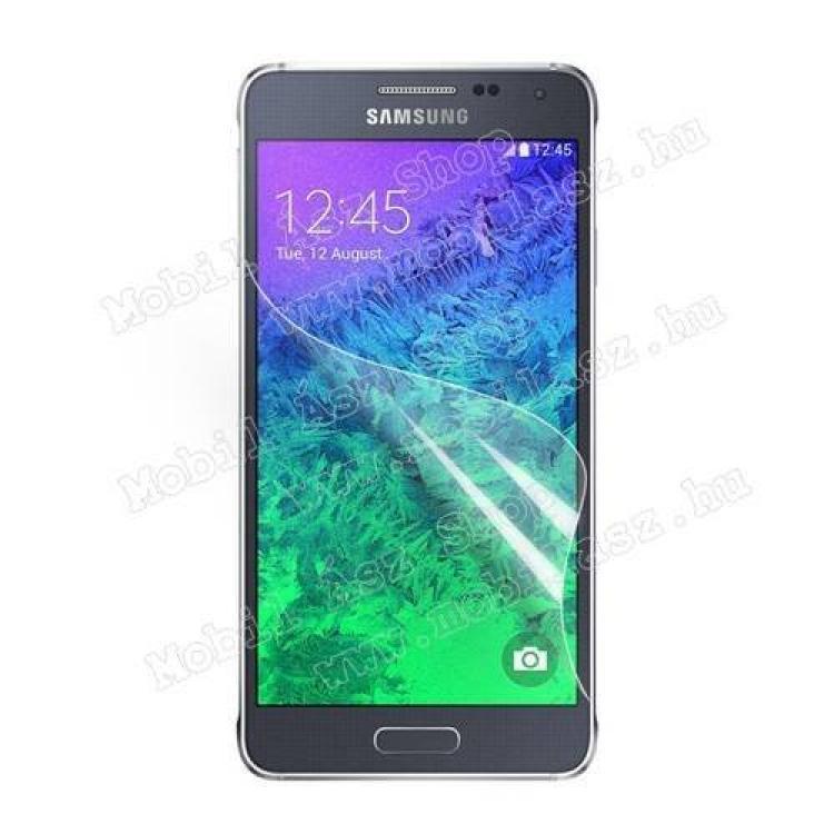 SAMSUNG Galaxy Alpha (SM-G850F)Képernyővédő fólia - Clear - 1db, törlőkendővel - SAMSUNG SM-G850F Galaxy Alpha