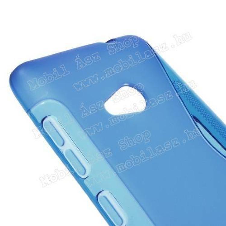 Szilikon védő tok / hátlap - FÉNYES/MATT - KÉK - MICROSOFT Lumia 535
