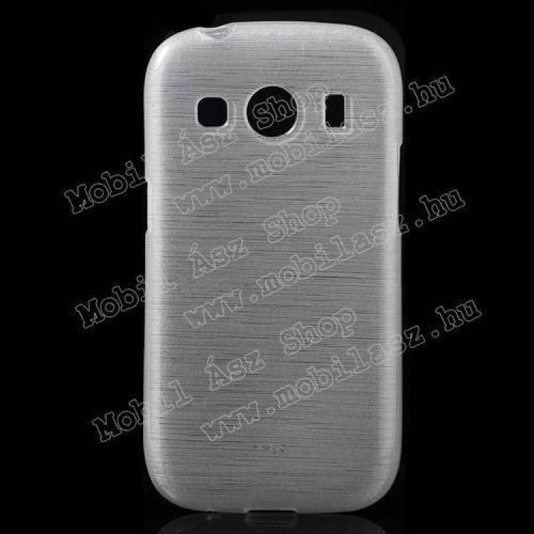SAMSUNG Galaxy Ace 4 LTE (SM-G357FZ)Szilikon védő tok  hátlap - szálcsiszolt mintázat - FEHÉR - SAMSUNG SM-G357FZ Galaxy Ace 4 LTE  SAMSUNG SM-G357FZ Galaxy Ace Style LTE