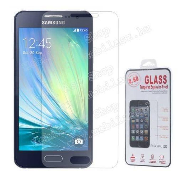 SAMSUNG Galaxy A3 DUOS (SM-A300F/DS)Előlap védő karcálló edzett üveg - 0,25 mm vékony, 9H, A képernyő sík részét védi - SAMSUNG SM-A300F Galaxy A3