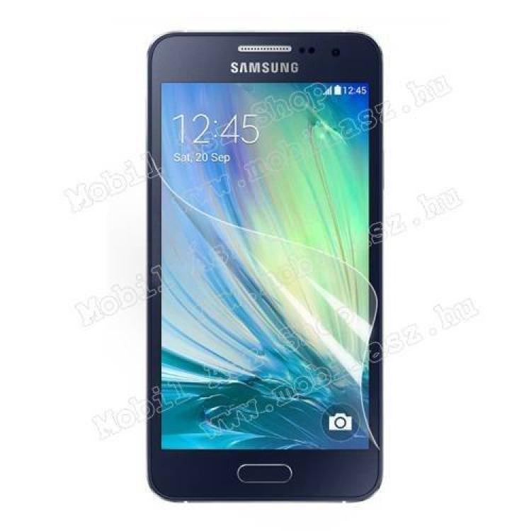 SAMSUNG Galaxy A3 DUOS (SM-A300F/DS)Képernyővédő fólia - Clear - 1db, törlőkendővel - SAMSUNG SM-A300F Galaxy A3