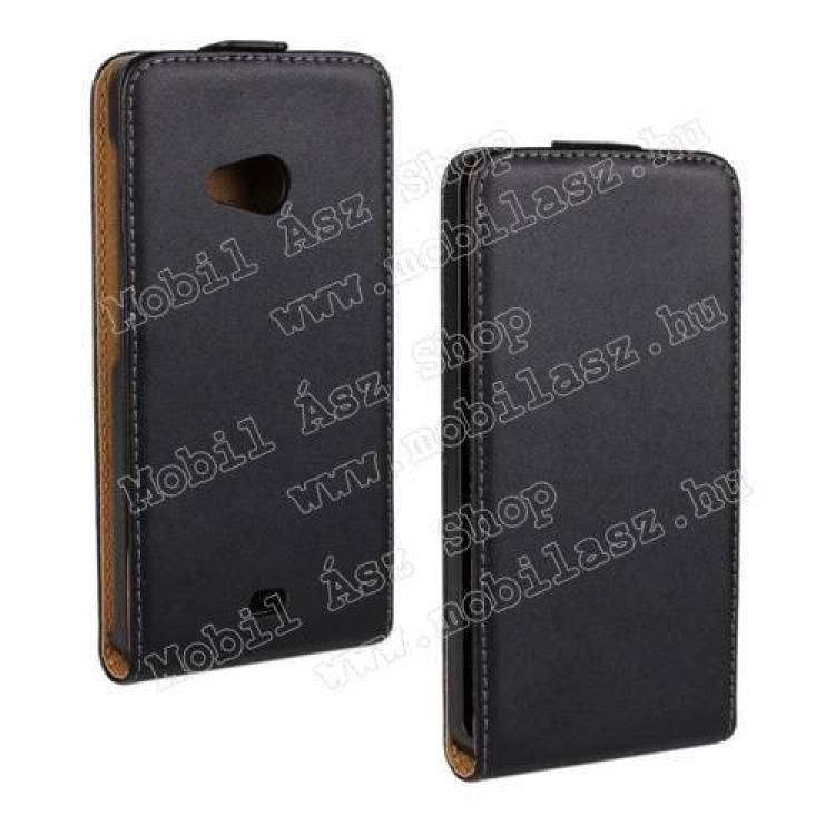 MICROSOFT Lumia 535SLIM FLIP tok - lefelé nyíló, rejtett mágneses záródás - FEKETE - MICROSOFT Lumia 535