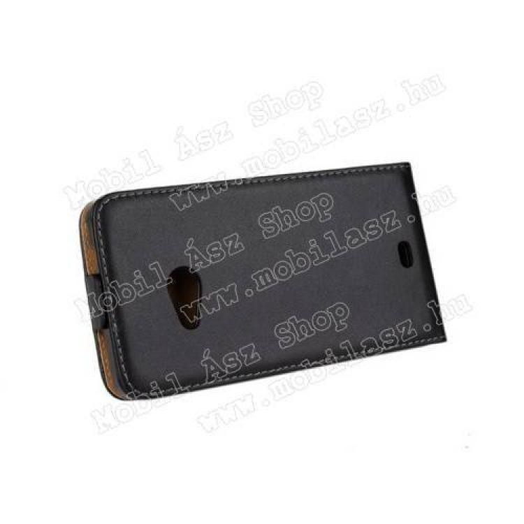 SLIM FLIP tok - lefelé nyíló, rejtett mágneses záródás - FEKETE - MICROSOFT Lumia 535