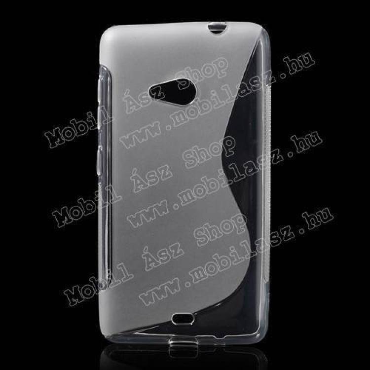 MICROSOFT Lumia 535Szilikon védő tok  hátlap - FÉNYESMATT - ÁTLÁTSZÓ - MICROSOFT Lumia 535