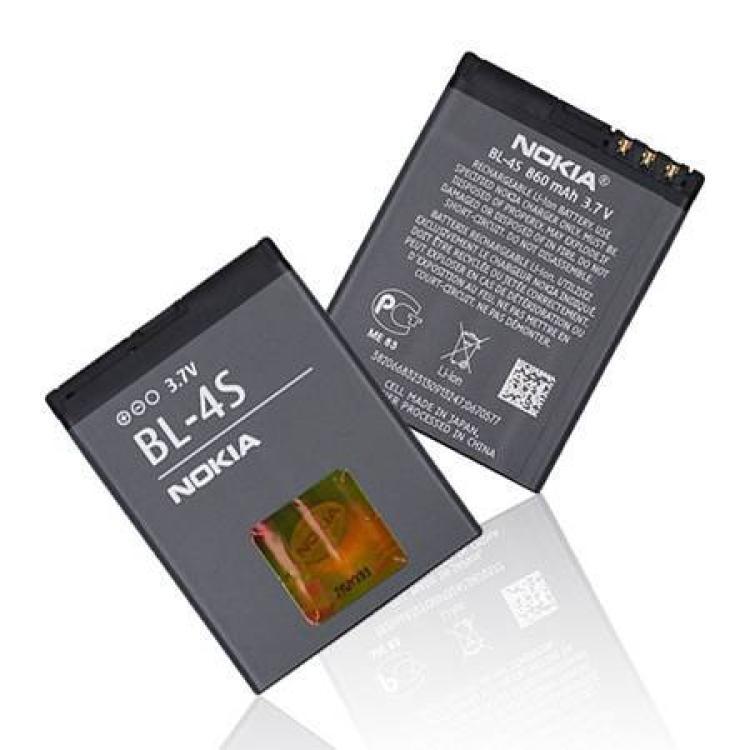 NOKIA X3-02 Touch and TypeNOKIA akku 860 mAh LI-IONLI-Polymer - BL-4S - GYÁRI - Csomagolás nélküli