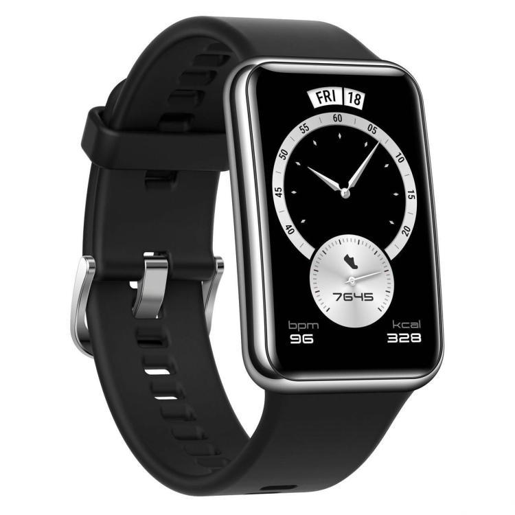 HUAWEI Watch FitHUAWEI Watch Fit Elegant okosóra - szilikon csuklópánt, aktivitás mérő, vízálló - FEKETE - 55026332 - GYÁRI
