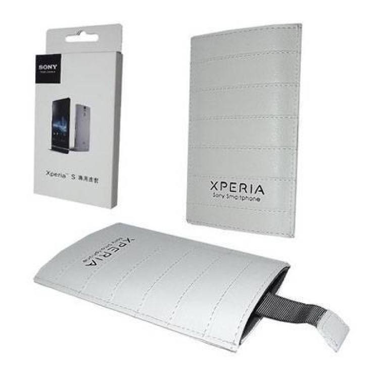 SONY Xperia Z4 CompactSONY tok álló, bőr (kihúzó pánttal) FEHÉR - SONY Xperia S (LT26i)Arc (LT15i)Arc S (LT18i) készülékekhez - GYÁRI
