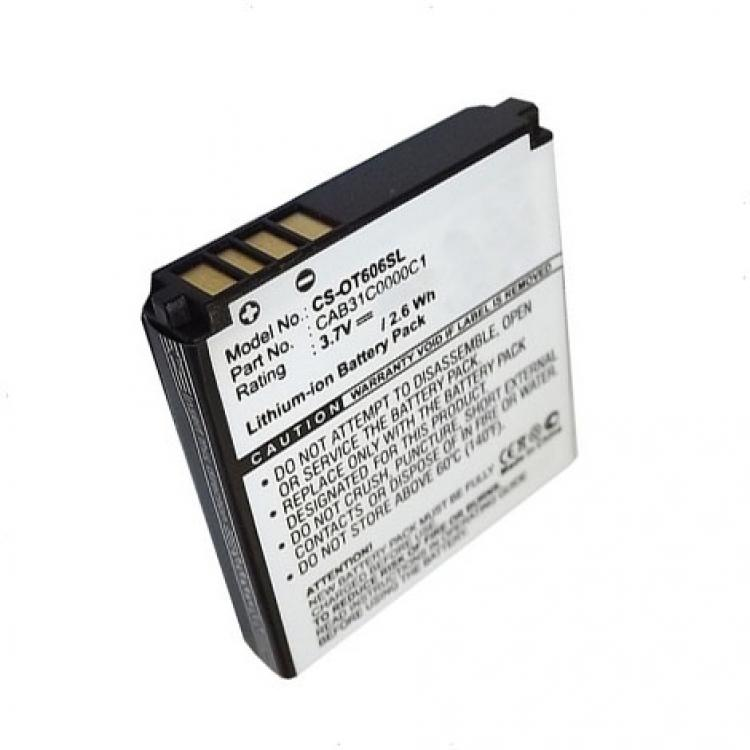 ALCATEL OT-606Akku 700 mAh LI-ION - ALCATEL CAB31C0000C1 kompatibilis