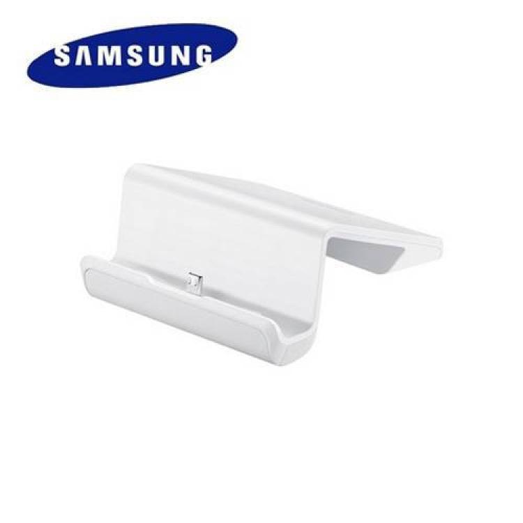 SAMSUNG Galaxy Tab 3 V (SM-T116NU)Asztali dokkoló  töltő és adatátviteli állvány - EE-D100TNW - FEHÉR - microUSB - GYÁRI