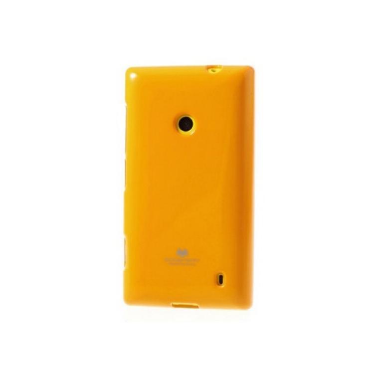 NOKIA Lumia 525Szilikon védő tok  hátlap - MERCURY - NARANCS - NOKIA Lumia 520  NOKIA Lumia 525