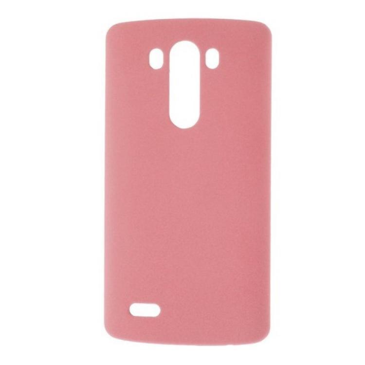 LG G3 Dual-LTEMűanyag védő tok  hátlap - érdes tapintású - RÓZSASZÍN - LG D850 G3