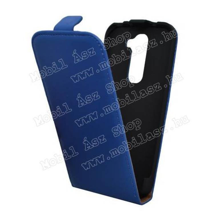 LG D620 G2 mini LTESLIM flip tok - KÉK - lefelé nyíló, rejtett mágneses záródás - LG G2 mini  LG D620 G2 mini LTE
