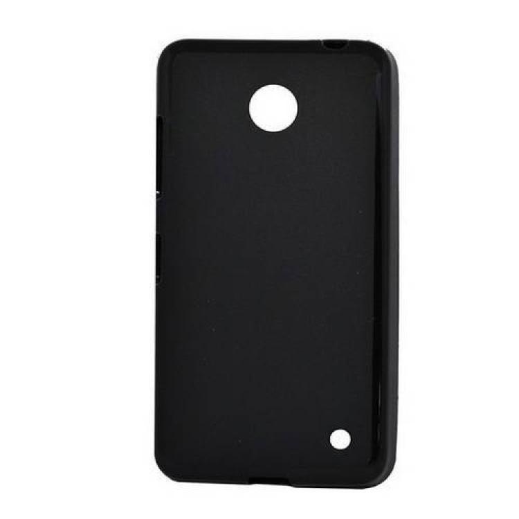 NOKIA Lumia 630 DUAL SIMSzilikon védő tok  hátlap - FLEXI - FEKETE - NOKIA Lumia 630  NOKIA Lumia 635